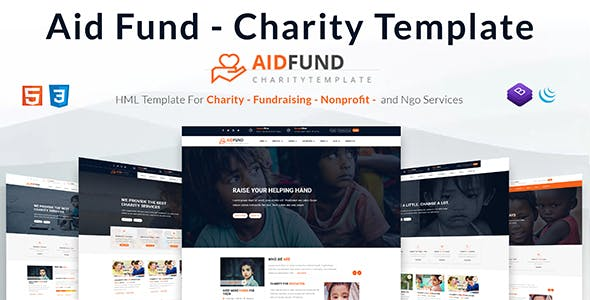 Aid Fund - Charity, Non Profit, HTML Template