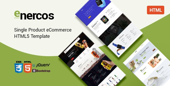Enercos - Single Product eCommerce HTML5 Template - Health & Beauty Retail