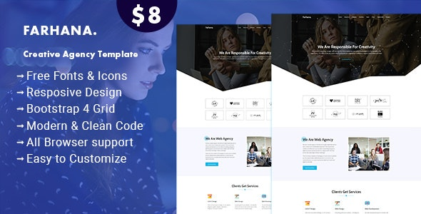Farhana - Creative Agency Template - Business Corporate
