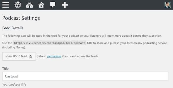 Castilo - Audio Podcast WordPress Theme