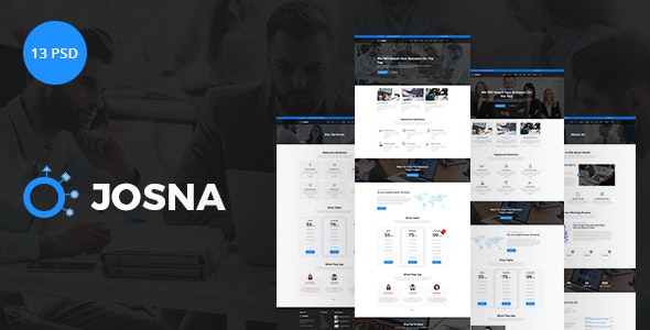 Josna | Corporate and Business PSD Template - Corporate Photoshop