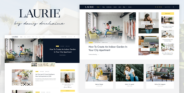Laurie - An Interior Design WordPress Blog & Shop Theme - Personal Blog / Magazine