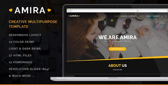 Amira - Business Template - Business Corporate