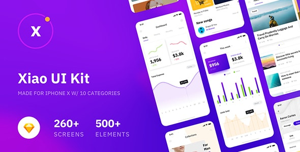 Xiao Mobile UI Kit for Sketch - Sketch UI Templates