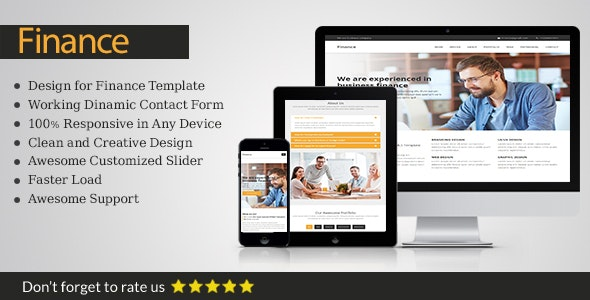 Finance - Responsive business WordPress Theme - Business Corporate