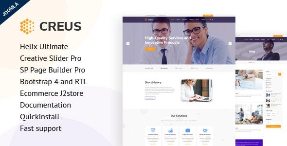 Creus - Business Consulting Joomla Template - Corporate Joomla