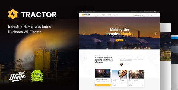 Tractor - Industrial, Industry & Manufacturing WordPress Theme - Business Corporate