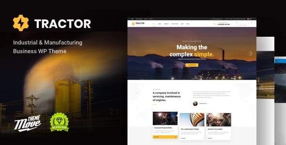 Tractor - Industrial, Industry & Manufacturing WordPress Theme