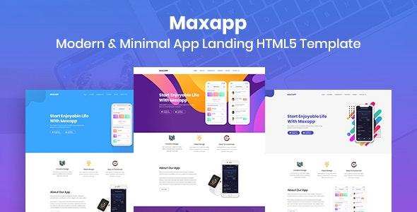 Maxapp - App Landing HTML5 Template - Technology Site Templates