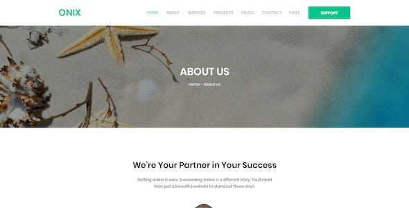 ONIX – Multipurpose Corporate/Business Agency PSD Template