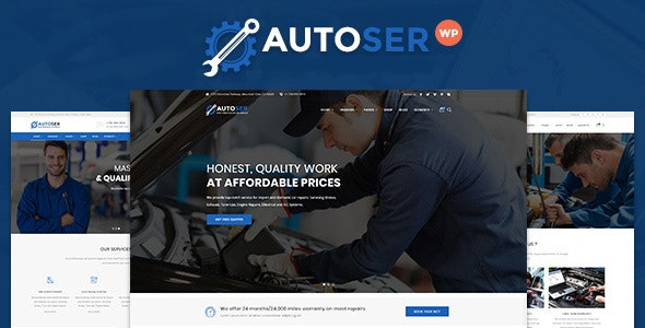 Autoser Car Repair And Auto Service Wordpress Theme By Oceanthemes