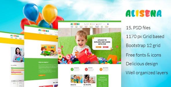 Alisena - Kindergarten & Preschool PSD Template - Children Retail