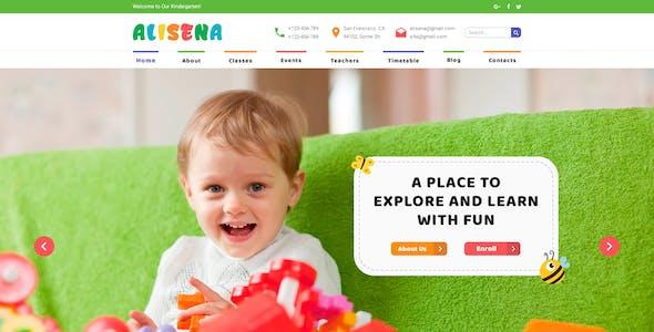 Alisena - Kindergarten & Preschool PSD Template