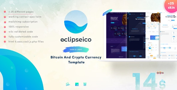 Eclipseico - Bitcoin And Crypto Currency HTML Template - Technology Site Templates