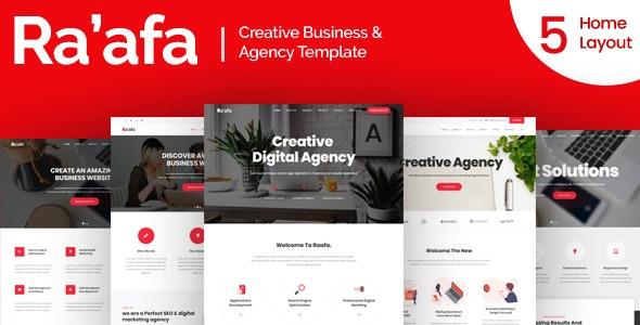 Raafa - Creative Business & Agency Template - Business Corporate
