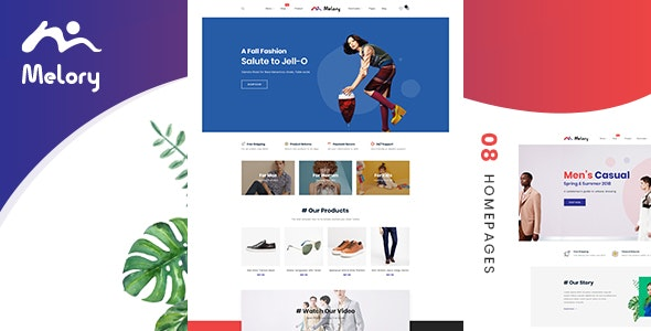Melory - Smoothy PSD Template for Fashion Store - Fashion Retail