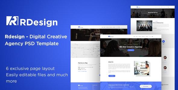 RDesign Digital Creative Agency PSD Template. - Corporate Photoshop