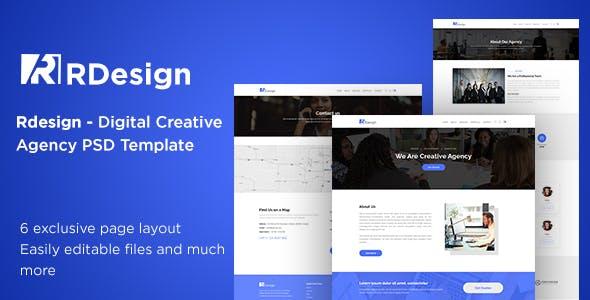 RDesign Digital Creative Agency PSD Template.