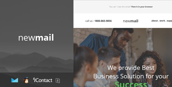 newmail - Responsive E-mail Template + Online Access - Email Templates Marketing
