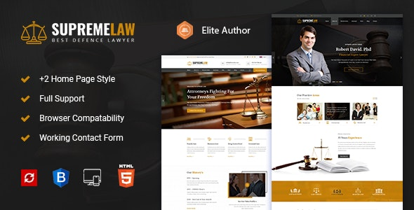 Supremelaw - Lawyer HTML Template - Personal Site Templates
