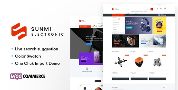 Sumi - Electronics WordPress Theme for WooCommerce (RTL supported) - WooCommerce eCommerce