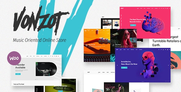 Vonzot - Music Oriented WooCommerce Theme - WooCommerce eCommerce