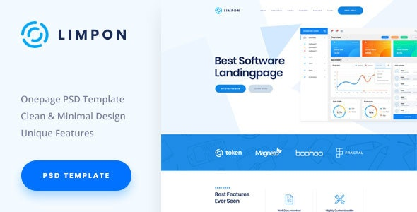 Limpon - Software Landing PSD Template - Software Technology