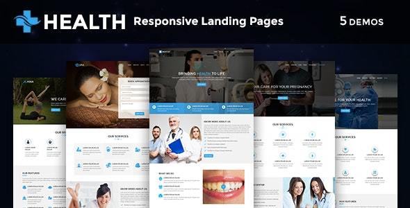 Health - Multipurpose Responsive HTML Landing Pages - Health & Beauty Retail