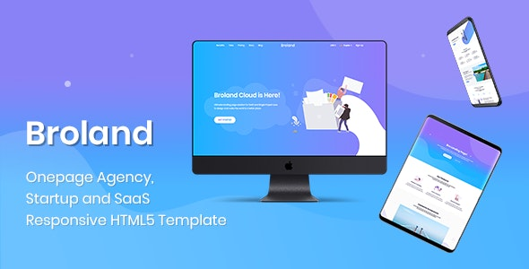 Broland - One page SaaS, Agency and Start up HTML Template - Software Technology