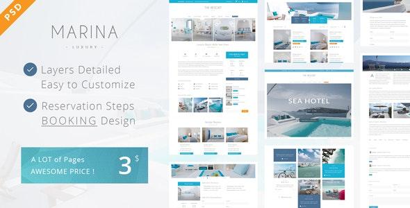 Marina - Resort & Hotel PSD Template - Travel Retail