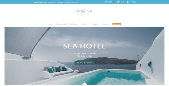 Marina - Resort & Hotel PSD Template