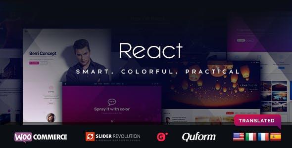 React - Responsive Multi-Purpose WordPress Framework