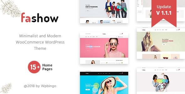 Fashow - Minimal and Modern WooCommerce Fashion Theme - WooCommerce eCommerce