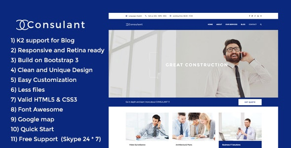 Consulant - Corporate & Business Joomla Template - Business Corporate