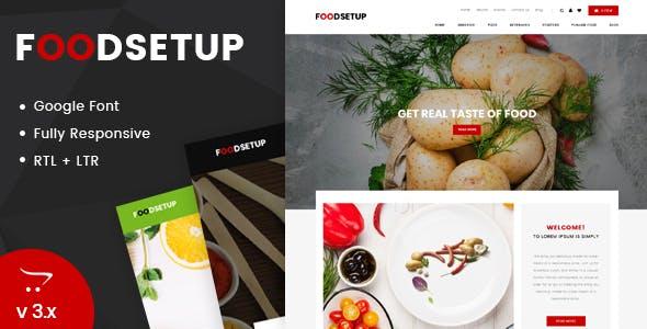 Foodsetup - Multipurpose OpenCart Responsive Theme