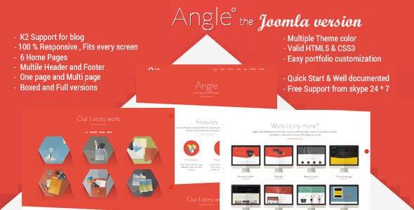Angle - Responsive MultiPurpose Joomla Theme