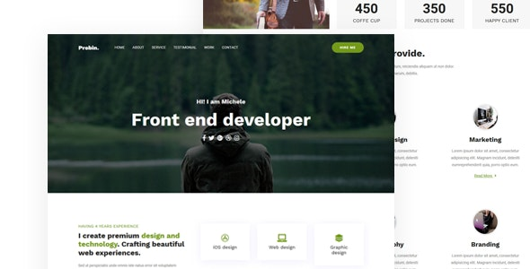 Probin-portfolio startup template - Creative Site Templates
