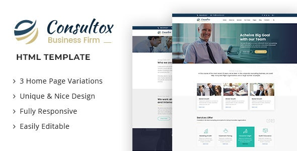 Consultox - Consulting Business HTML Template - Business Corporate
