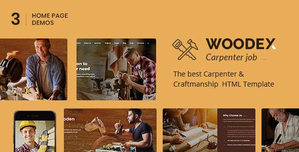 Woodex - Carpenter and Craftman Business HTML Template - Business Corporate