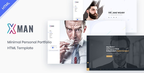 Xman - vCard / Resume / CV / Portfolio Template - Personal Site Templates