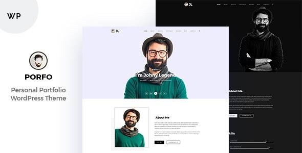 Porfo Minimal Personal WordPress Theme - Portfolio Creative