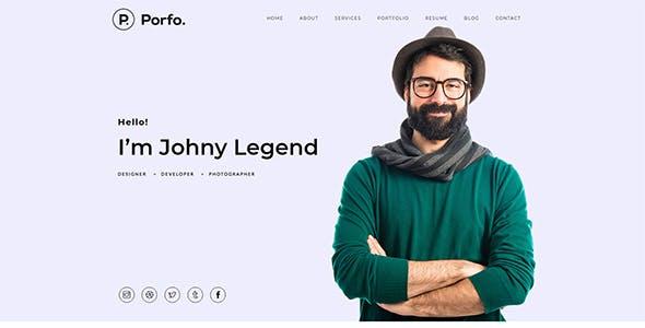 Porfo Minimal Personal WordPress Theme