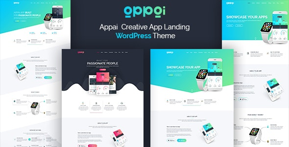 Appai App Landing WordPress Theme - Software Technology
