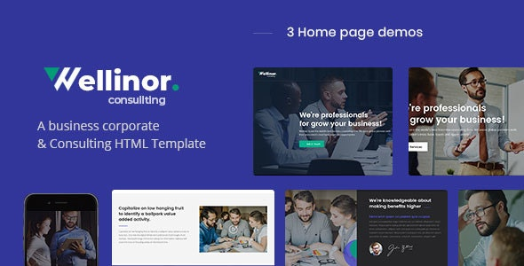 Wellinor - Business Consulting HTML Template - Business Corporate