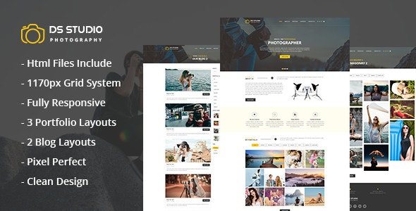 DS Studio - Photography Html Template for Photographers - Photography Creative