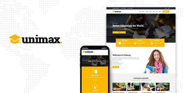 Unimax | Education HTML Template - Nonprofit Site Templates