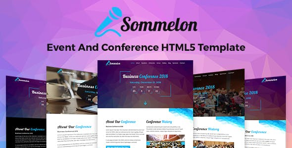 Sommelon - Event And Conference HTML5 Template