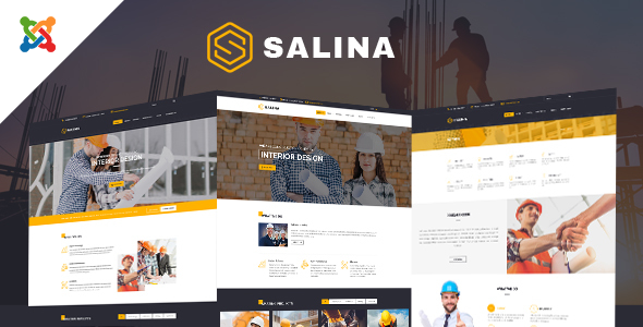 Salina - Construction Joomla Template With Page Builder - Business Corporate