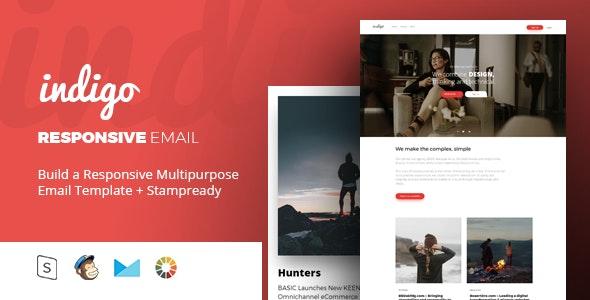 indigo - Responsive Email + StampReady Builder - Email Templates Marketing