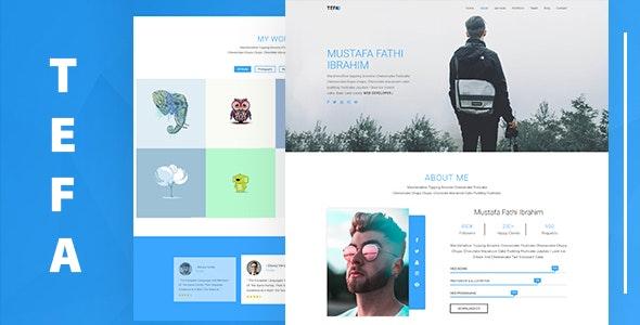 Tefa – One Page Portfolio Template - Personal Site Templates